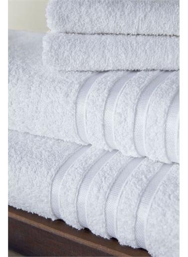 Bahar Bahar 2Li Banyo Havlusu 70X140 - Beyaz Beyaz